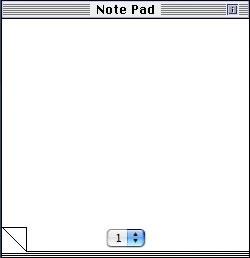 Classic Note Pad widgetの動作状況