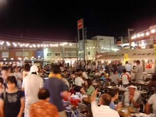 2005年五戸町ビックリ夜店のビアガーデンの風景