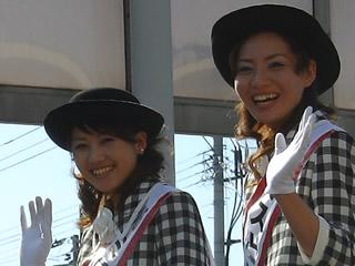 お祭りのミス十和田のお姉様の写真