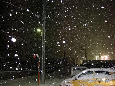 大荒れのホワイトクリスマス