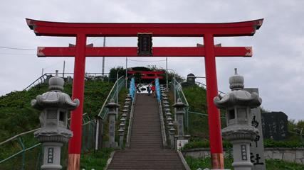 八戸市蕪島(写真撮影:パナソニックDMC-LX2)