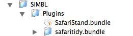 SIMBLEのフォルダにsafari tidyを入れる