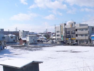 2009年3月27日の雪の様子