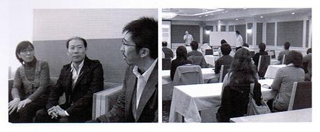 インタビューメンバーと、セミナー当日の写真