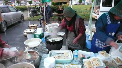 八戸朝市-湊 せんべいの天ぷら