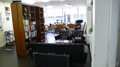 トライポッド スタジオの応接スペース